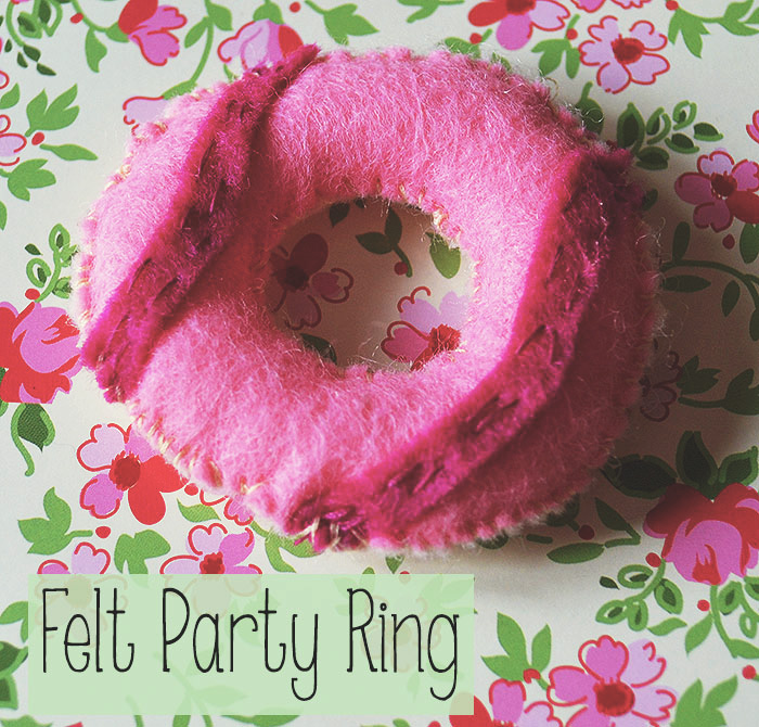 felt play food party ring biscuit
