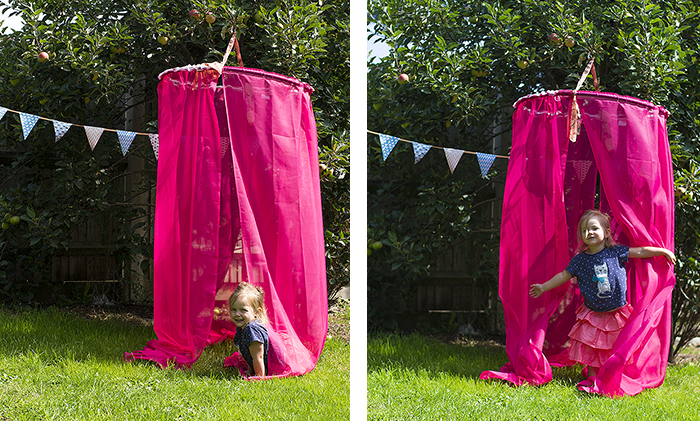 How to make a hanging diy canopy in five minutes for How to create a canopy