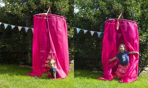 pink hanging canopy
