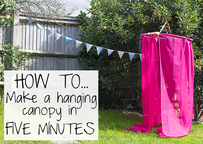 how to make a hanging diy canopy