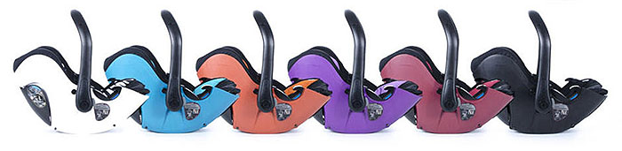 kiddy car seat colours