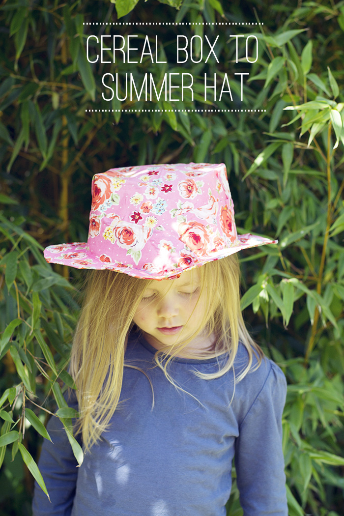 cereal box to summer hat