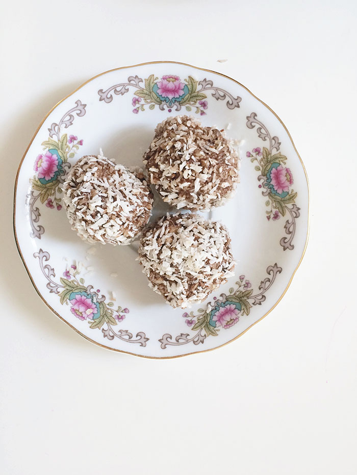 coconut and cacao balls